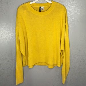 ✨3 for 20 H&M YELLOW KNIT LONG SLEEVE SWEATER